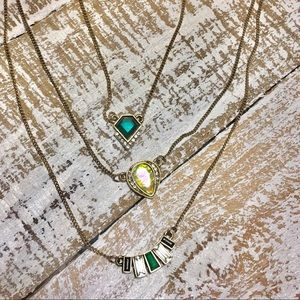 Jewelry - Vintage Deco Style Multi-Strand Necklace